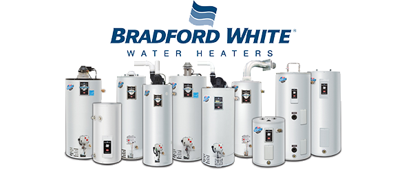We sell and install Bradford White hot water heaters